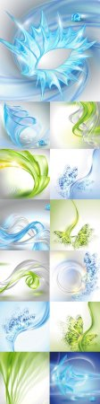 Bright colorful abstract backgrounds vector - 87