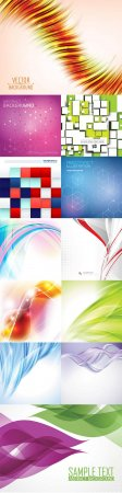 Bright colorful abstract backgrounds vector - 88