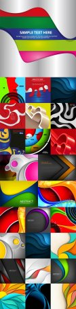Bright colorful abstract backgrounds vector - 89