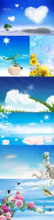 Blue layered nature backgrounds