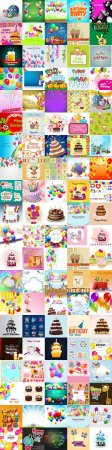 Large collection of happy birthday cards