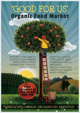 Organic Food Market psd flyer template